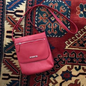 Nine West classic red crossbody bag purse vegan
